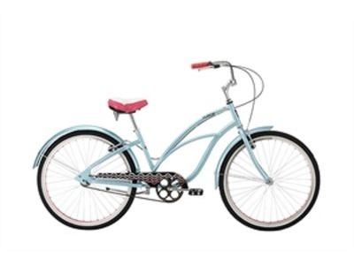 "ALPHA PLUS Surge Women 26"" Single Speed Cruiser 26""wheel 1 speed Ice Blue  click to zoom image"
