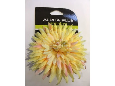 ALPHA PLUS Bicycle Flower Decoration Clip on to Handlebars