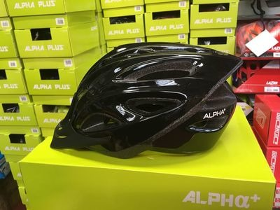 ALPHA PLUS Shadow Cycle Helmet (Size & Colour Options). 54-61cm Black  click to zoom image