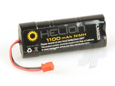 HELION Battery, 7.2v, 1100 mAh, NiMH