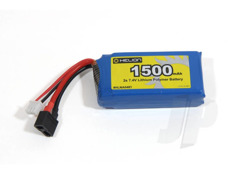 HELION Battery 2s Lipo 1500mAh B-XH HCT click to zoom image