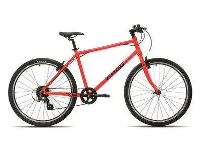 "FROG 78 26W Kids Hybrid Bike 26"" Wheel Neon Red  click to zoom image"