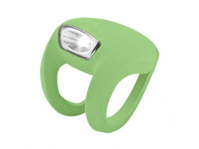 FROG Knog Strobe Light - Front White LED  Lime Green  click to zoom image