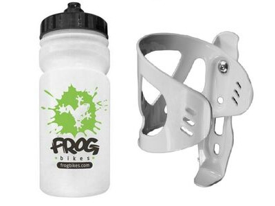 FROG Water Bottle and Cage  White  click to zoom image