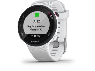 GARMIN Forerunner 45S GPS Watch Small White  click to zoom image