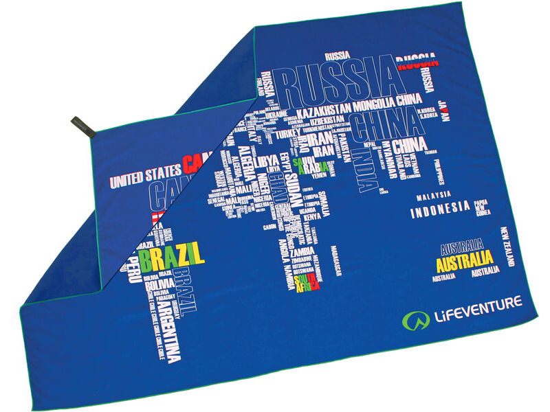 LIFEVENTURE SoftFibre Printed Towel - Giant - World in Words click to zoom image