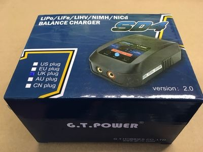 G.T.POWER SD4 240v Charger -Li-Po, Li-Fe, Ni-MH, Ni-Cd,Li-Hv click to zoom image