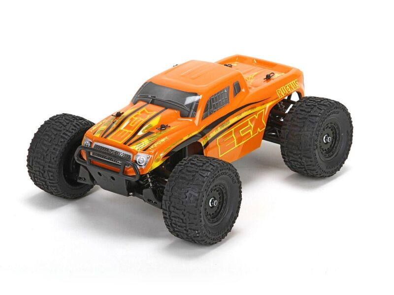 ECX Ruckus 4wd Monster Truck: Org/Yel 1:18 RTR INT click to zoom image