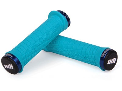 ODI Troy Lee Designs MTB Lock On Grip 130mm Aqua  click to zoom image