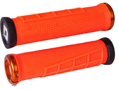 ODI Elite Flow MTB Lock On Grips  Orange  click to zoom image