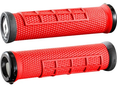 ODI Elite Flow MTB Lock On Grips  Red  click to zoom image