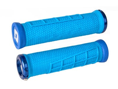 ODI Elite Flow MTB Lock On Grips  Blue  click to zoom image