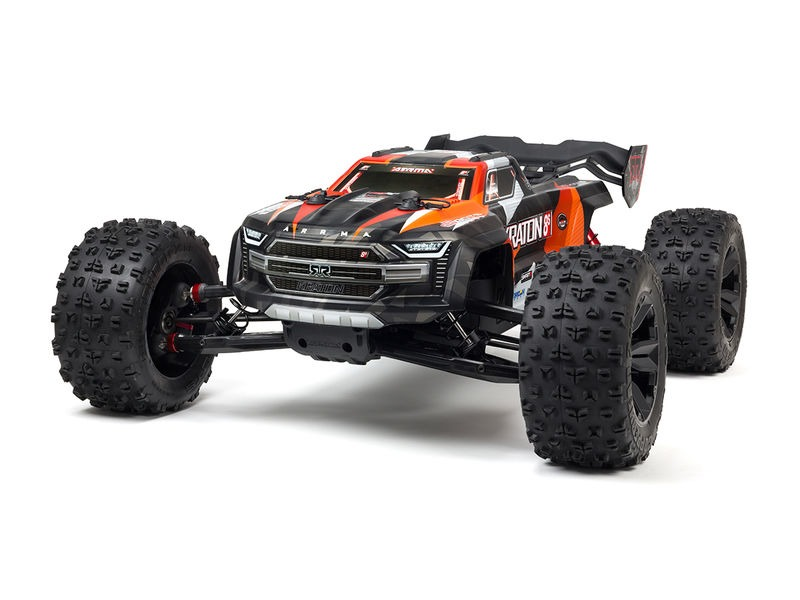 ARRMA KRATON 8S 4x4 BLX 1/5 Speed Monster Truck - Orange click to zoom image