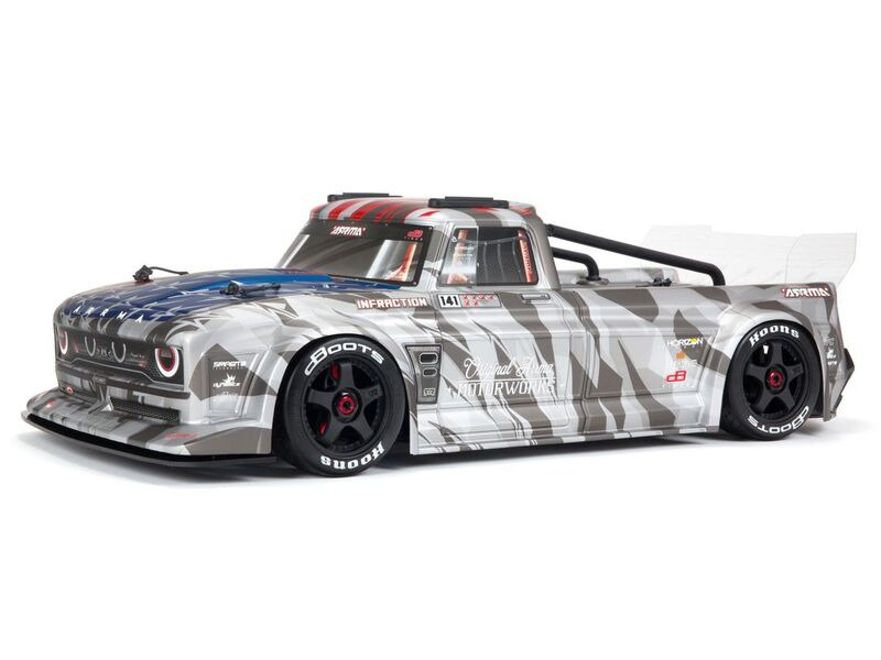 ARRMA Infraction 6S BLX RTR Silver click to zoom image