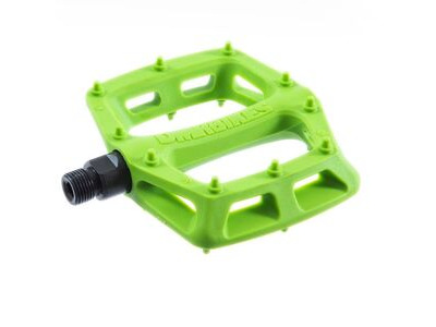 "DMR V6 Lightweight Nylon Fibre Body Pedals 9/16"" Axle Green  click to zoom image"