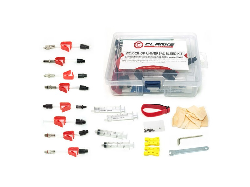 CLARKS CYCLE SYSTEMS Universal Workshop Disc Brake Bleed Kit click to zoom image