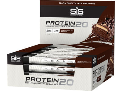 SIS Protein20 high protein bar 1 x 55g Bar  Dark Chocolate Brownie  click to zoom image